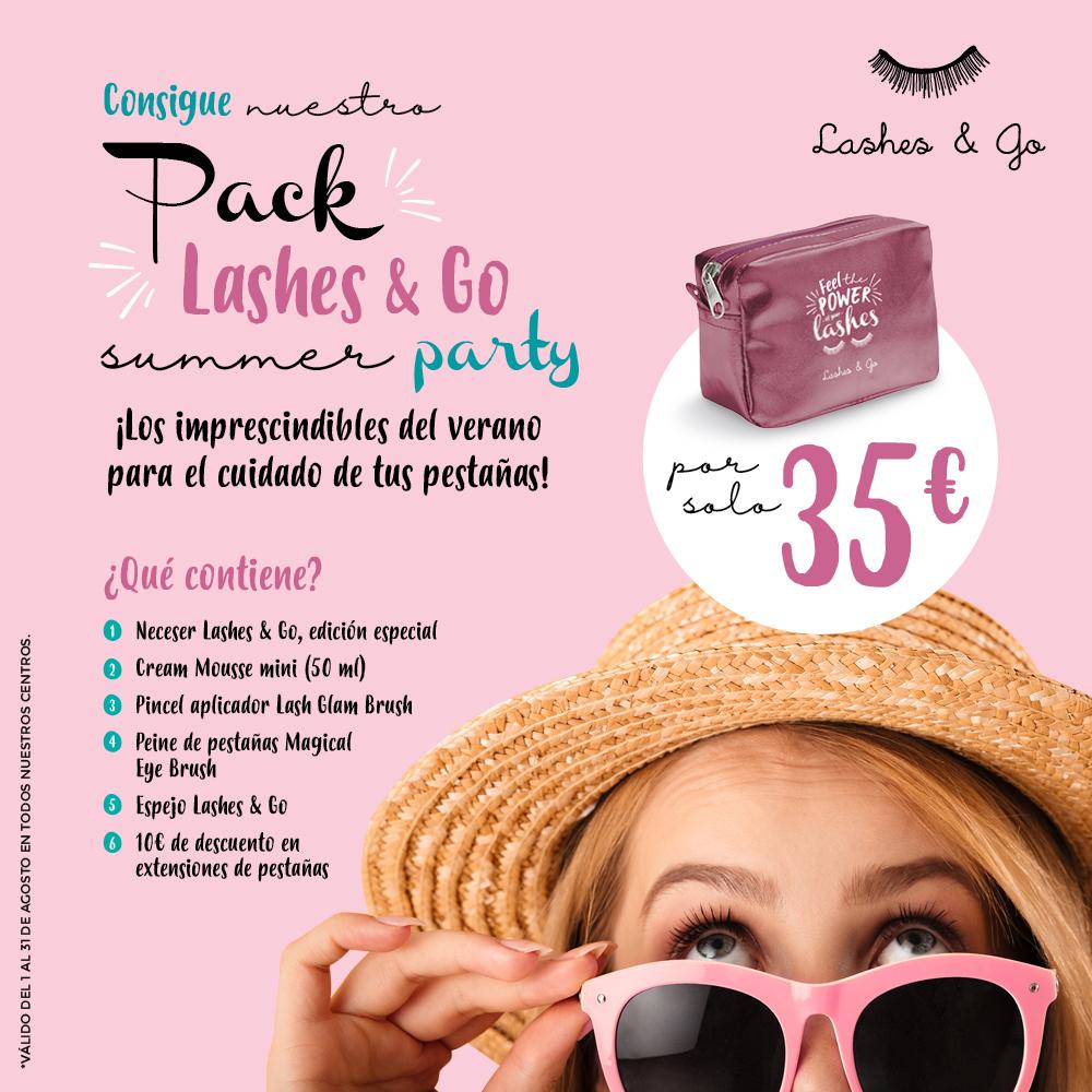 Este agosto, mima tus pestañas con el Pack Lashes & Go Summer Party