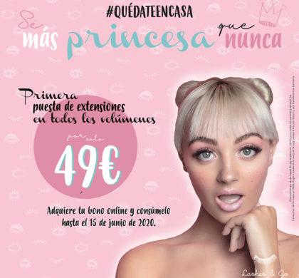 Sé más princesa que nunca, ¡#Quedateencasa!