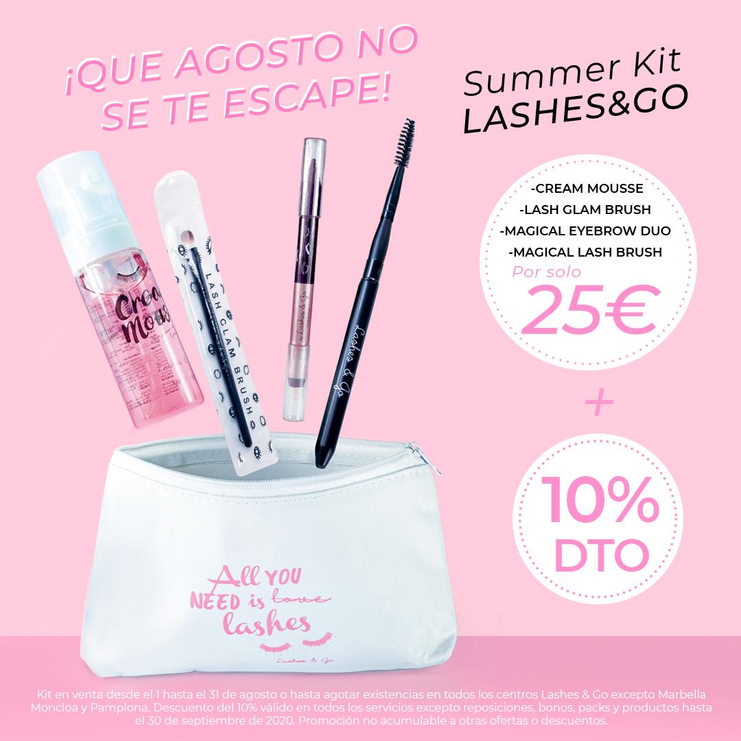 Que no se te escape agosto con el Summer Kit Lashes & Go