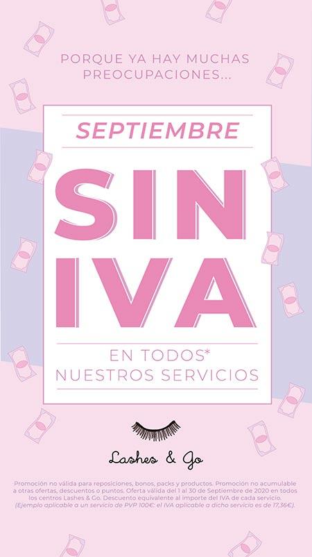 Septiembre SIN IVA en Lashes & Go