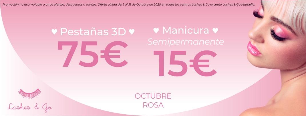 Octubre Rosa en Lashes & Go